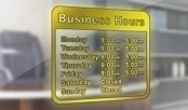 High Quality Door Sign for Business Hours