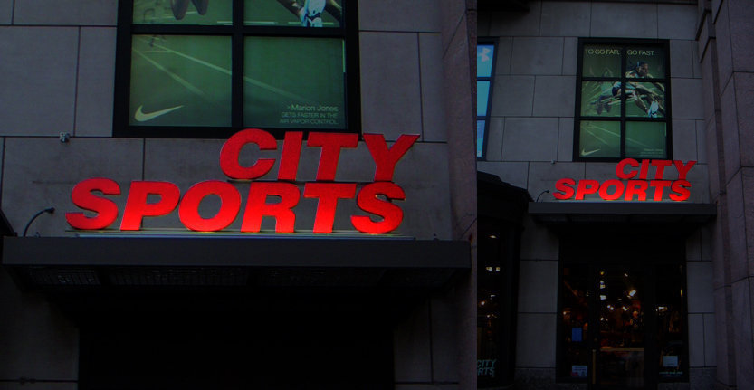 City Sports Illuminated 3D Letters