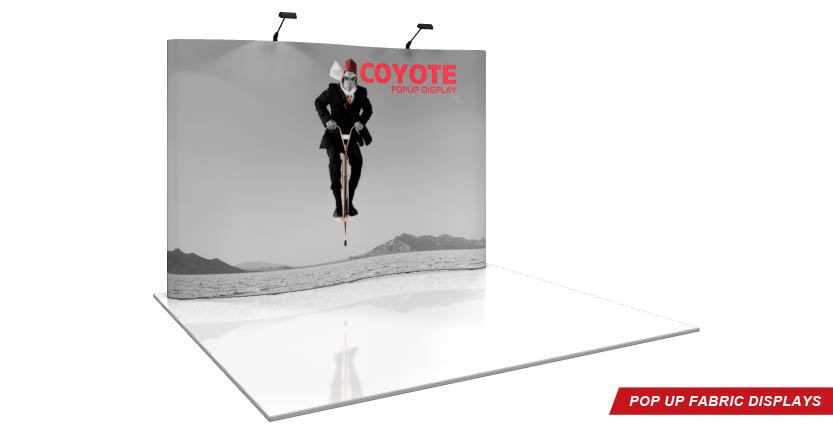 High Quality Custom Coyote Pop-Up Display with Eleven Full Hight System