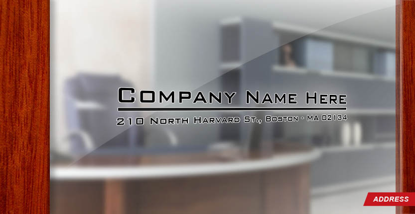 Door Address for Office and with Your Company Name