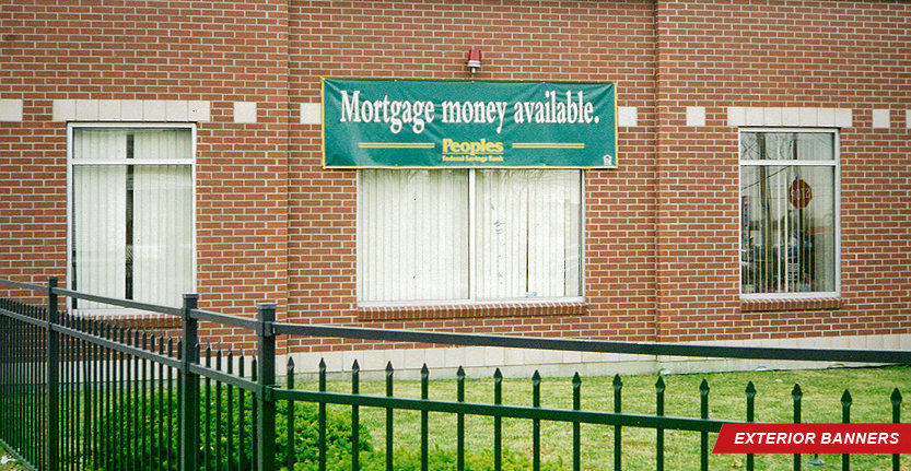 Custom Exterior Banner for Mortgage Money Available