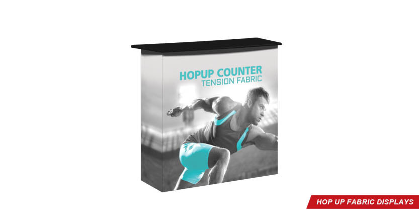 High Quality Hop Up Counter Tension Fabric Display