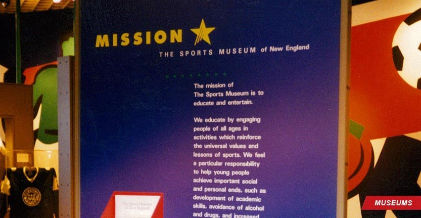 Modern Wall Sign for Sport Museum of New England