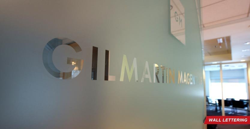 Side View of Custom Wall Lettering For Law Firm