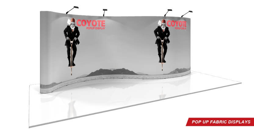 High Quality Custom Coyote Pop-Up Display with Full Trade Show Exhibit System
