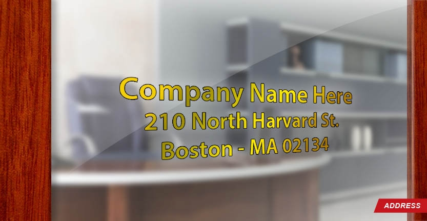 High Quality Door Address for Office in Gold Color