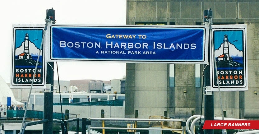 Custom Large Banner for Boston Harbor Islands
