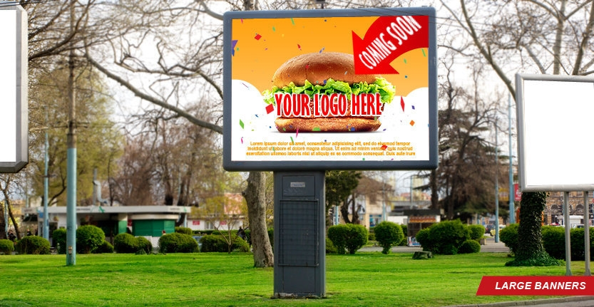 High Quality Large Banner for Fast Food Restaurant