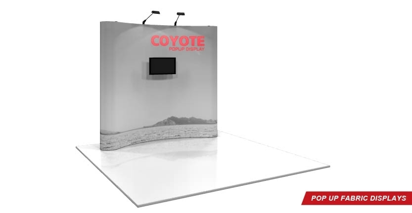 Coyote Trade Show Pop-Up Displays with Monitor
