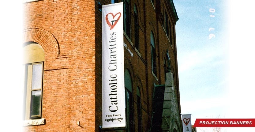-	High Quality Projection Banner for Catholic Charities