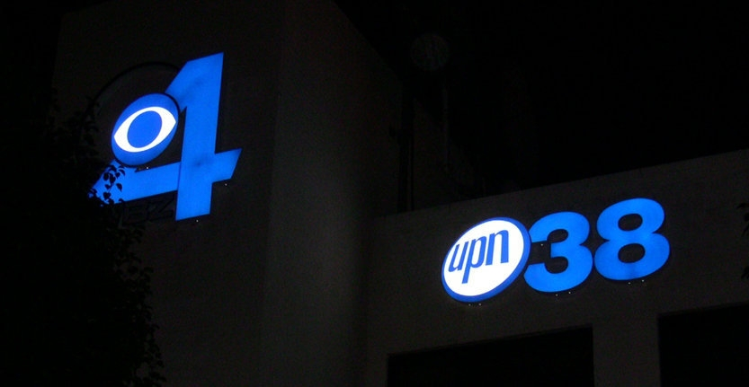 Storefront 3D Illuminated Letters For TV Channel