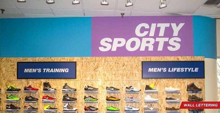 Wall Lettering For Sport Store